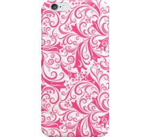 Pink & White Vintage Floral Pattern iPhone Case/Skin