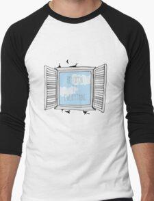 be open to everything grey Men's Baseball ¾ T-Shirt