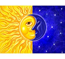 Solstice Sun and Moon Photographic Print
