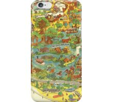 Vintage Disneyland Map Adventureland iPhone Case/Skin