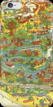 Vintage Disneyland Map Adventureland by tylersmithh