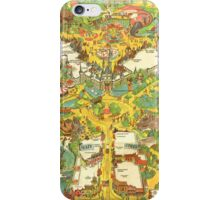 Vintage Disneyland Map Main Street USA iPhone Case/Skin