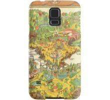 Vintage Disneyland Map Fantasyland Samsung Galaxy Case/Skin