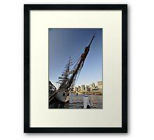 "Tall Ship ""Europa"" & Sydney Skyline, Australia 2013 Framed Print"