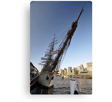 "Tall Ship ""Europa"" & Sydney Skyline, Australia 2013 Canvas Print"