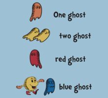 One Ghost, Two Ghost, Red Ghost, Blue Ghost by beware1984