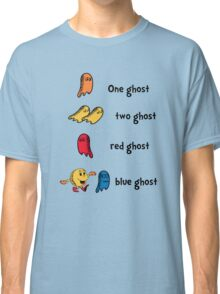 One Ghost, Two Ghost, Red Ghost, Blue Ghost Classic T-Shirt