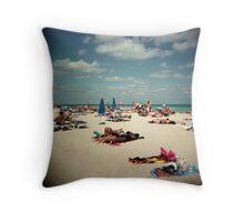 South Beach, Miami Throw Pillow