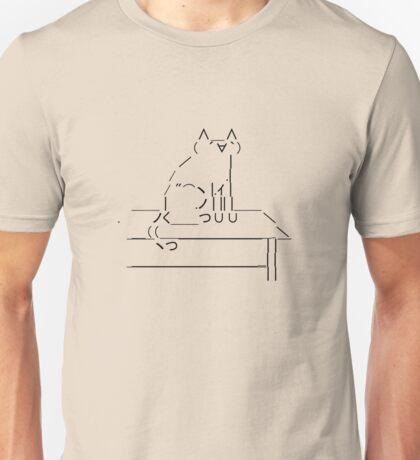 Tablecat Black Unisex T-Shirt