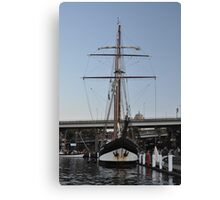 "Tall Ship ""Oosterschelde"", Sydney, Australia 2013 Canvas Print"