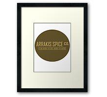 Dune Arrakis Spice Co. Framed Print