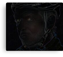 tough cyclist Canvas Print