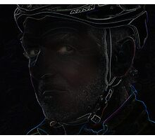 tough cyclist Photographic Print