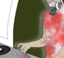 zombie DJ Sticker