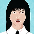 Teeth, portrait of a schoolgirl by Ken Tackett