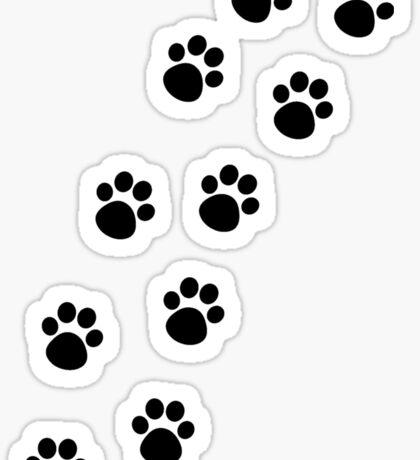 Cat Paw Track Sticker