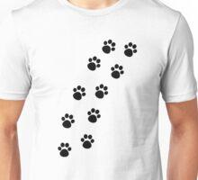 Cat Paw Track Unisex T-Shirt