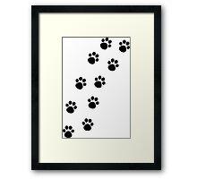 Cat Paw Track Framed Print