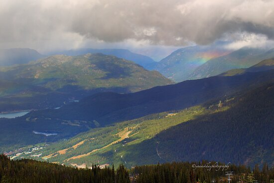 Rainbow over Whistler Mountain by Yannik Hay