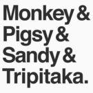 Monkey & Pigsy & Sandy & Tripitaka by Ben Lucas
