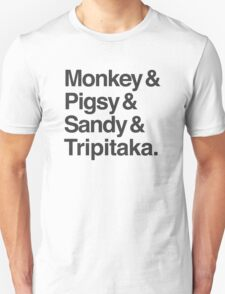 Monkey & Pigsy & Sandy & Tripitaka Unisex T-Shirt