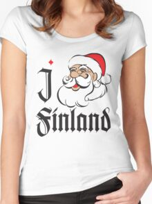 I LOVE FINLAND T-shirt Women's Fitted Scoop T-Shirt