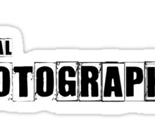 Official Photographer TShirt and Hoodie Sticker