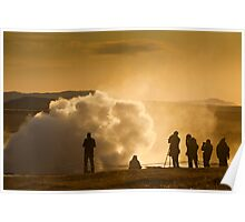 Capturing the Strokkur geyser Poster