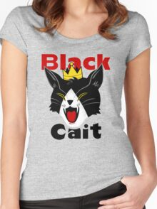 Black Cait Fireworks Women's Fitted Scoop T-Shirt