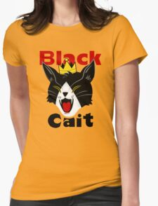 Black Cait Fireworks Womens Fitted T-Shirt