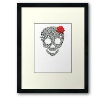 Skull rose Framed Print