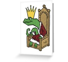 The Lizard King Greeting Card