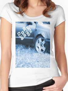 Bath retro and dub Women's Fitted Scoop T-Shirt