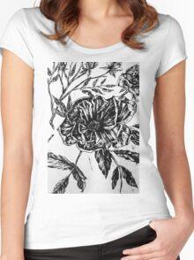 Flower Design II Women's Fitted Scoop T-Shirt