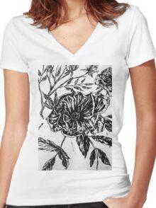 Flower Design II Women's Fitted V-Neck T-Shirt