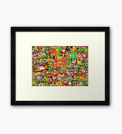 In Christmas melt into the crowd and enjoy it Framed Print