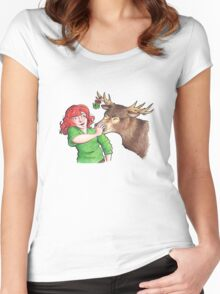 Christmas Fun with Lily and Prongs Women's Fitted Scoop T-Shirt