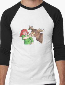 Christmas Fun with Lily and Prongs Men's Baseball ¾ T-Shirt