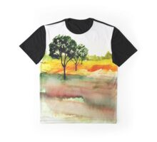 Flowers in a Meadow, Derbyshire Graphic T-Shirt