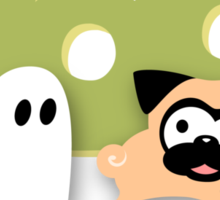 Tugg the Pug Boo! (Green) Sticker