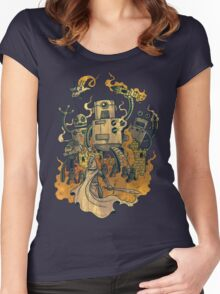 The Robots Come Out At Knight Women's Fitted Scoop T-Shirt