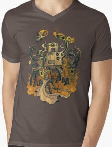 The Robots Come Out At Knight Mens V-Neck T-Shirt