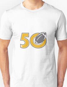 50 Pro Football Championship Ball T-Shirt