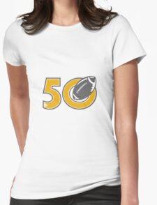 50 Pro Football Championship Ball Womens Fitted T-Shirt