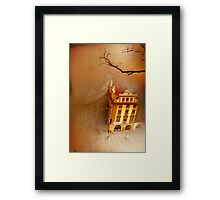Looking Down-where the city sleeps Framed Print