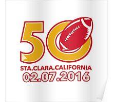 50 Pro Football Championship Santa Clara Poster