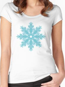 Snowflake 003 Women's Fitted Scoop T-Shirt