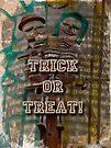 Halloween Trick or Treat Skeleton Greeting Card by MotherNature