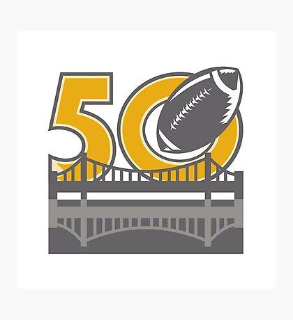 Pro Football Championship 50 Ball Bridge Photographic Print