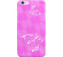 Floral pink iPhone Case/Skin